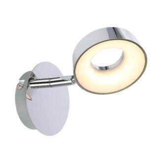 Srebrny kinkiet Isla - LED, okrągły klosz