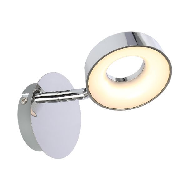 srebrny kinkiet z małym okrągłym kloszem