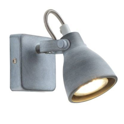 szary industrialny kinkiet z regulowanym reflektorem