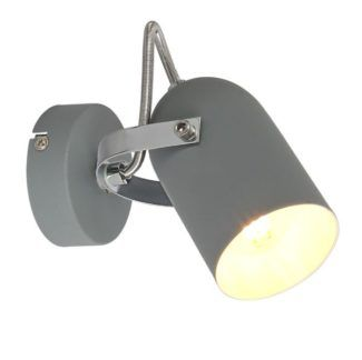 Szary kinkiet Gray - metalowy reflektor
