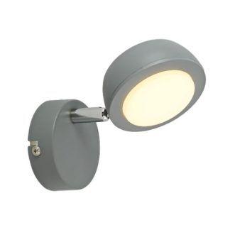 Szary kinkiet Mild - regulowany reflektor