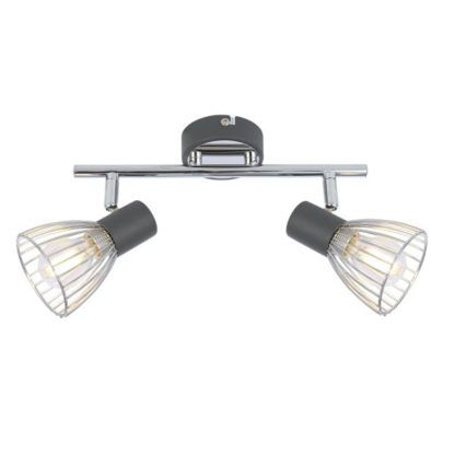 szaro-srebrna lampa sufitowa skandynawska