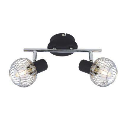 metalowa lampa sufitowa chrom