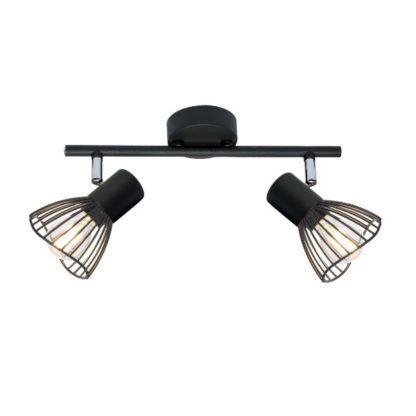 nowoczesna czarna lampa sufitowa