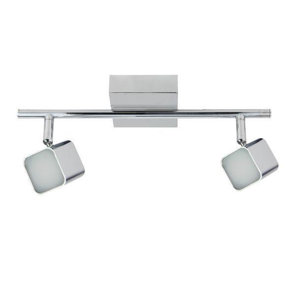 srebrna lampa sufitowa nowoczesna, chrom