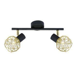 Lampa sufitowa Acrobat - czarno-złota, nowoczesna