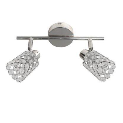 Podwójna lampa sufitowa York - srebrna, regulowane klosze