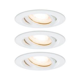 Zestaw oczek sufitowych Nova - białe, IP65, LED