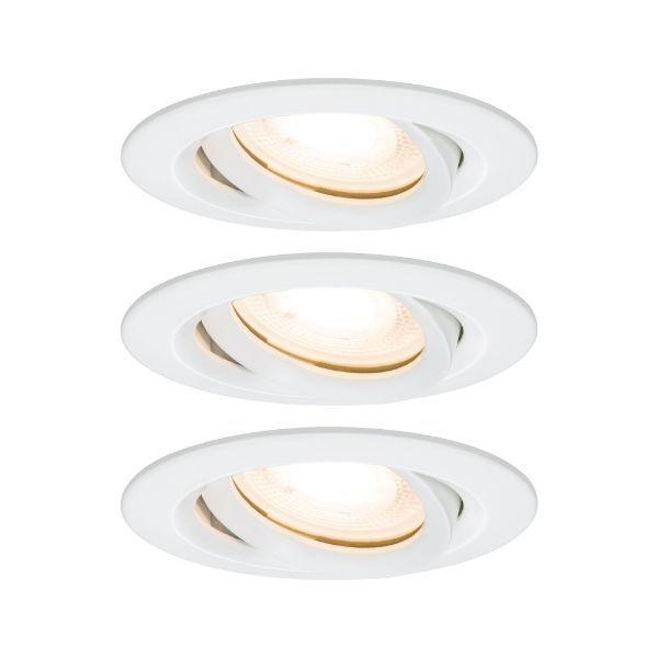 białe oczko sufitowe okrągłe
