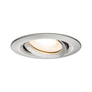 Srebrne oczko sufitowe Nova - regulowane, IP65, LED