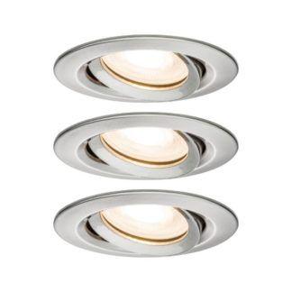 Zestaw trzech oczek sufitowych Nova - srebrne, IP65, LED