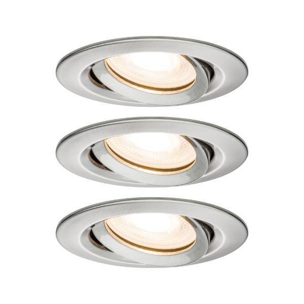 srebrne oczko sufitowe regulowane