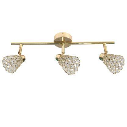 złota lampa sufitowa glamour