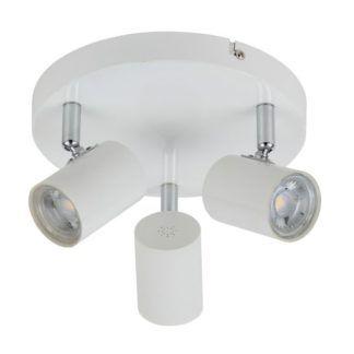 Nowoczesna lampa sufitowa Halley - białe reflektory