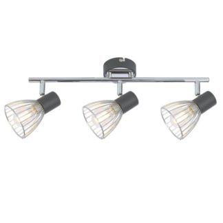 Lampa sufitowa Modo - ażurowe klosze, chrom