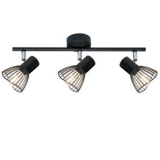 Czarna lampa sufitowa Fly - ażurowe klosze