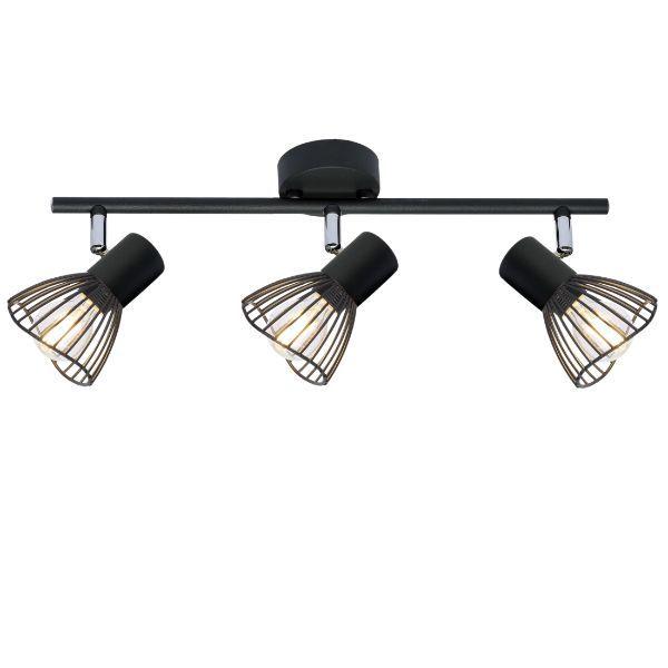 czarna lampa sufitowa reflektorki