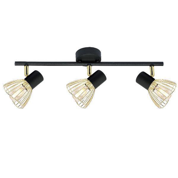 czarno-złota lampa sufitowa nowoczesna