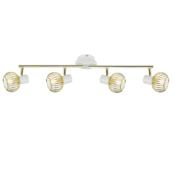 biało-złota lampa sufitowa druciana