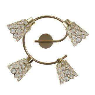 Złota lampa sufitowa Glossy - okrągła