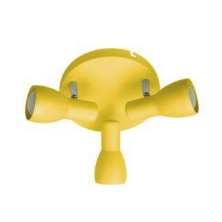 Żółta lampa sufitowa Picardo  - 3 klosze, okrągła