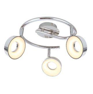 Okrągła lampa sufitowa Isla - chrom, LED
