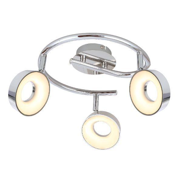 okrągła lampa sufitowa nowoczesna, chrom