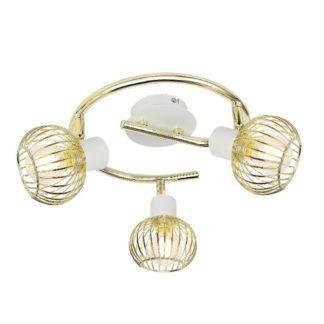Okrągła lampa sufitowa Oslo - 3 klosze, złota