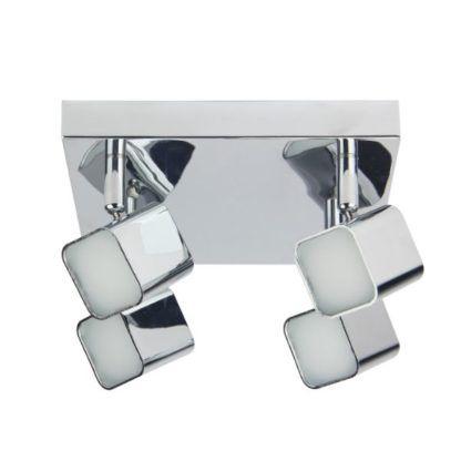 srebrna lampa sufitowa nowoczesna chrom