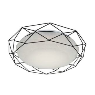 Nowoczesny plafon Sven - czarna, geometryczna rama
