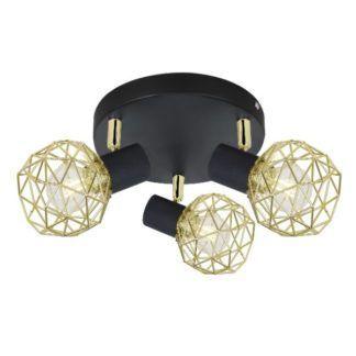 Okrągła lampa sufitowa Acrobat - regulowane klosze