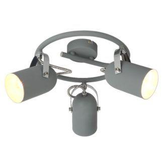 Lampa sufitowa Gray - okrągła, 3 reflektory