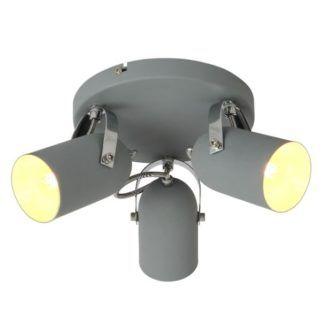 lampa sufitowa Gray - szara, regulowane klosze