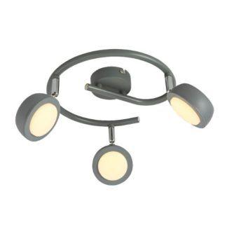 Okrągła lampa sufitowa Mild, szara, LED