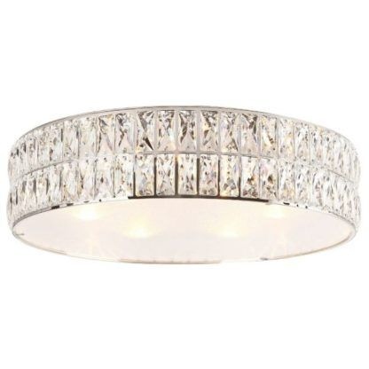Lampa sufitowa Diamante - srebrna, glamour