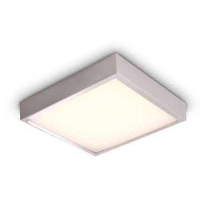 Srebrny plafon Krom - kwadratowy, IP44
