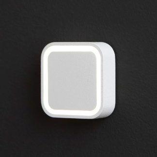 Kwadratowa oprawa schodowa Five - biała, IP54