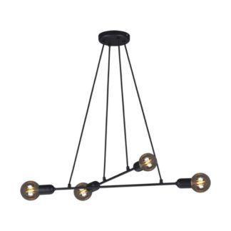 Czarna lampa wisząca Sitya - nowoczesna