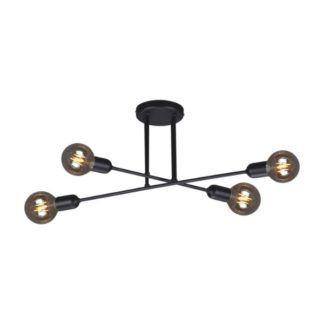 Nowoczesna lampa sufitowa Sitya - czarne pręty