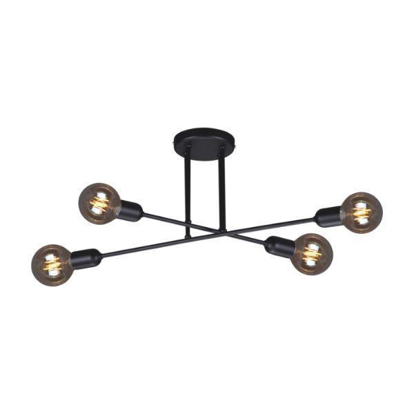 nowoczesna lampa sufitowa czarna