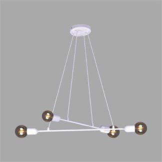 Biała lampa wisząca Sitya - metalowa, nowoczesna