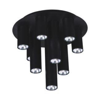 Czarna lampa sufitowa Mile - tuby