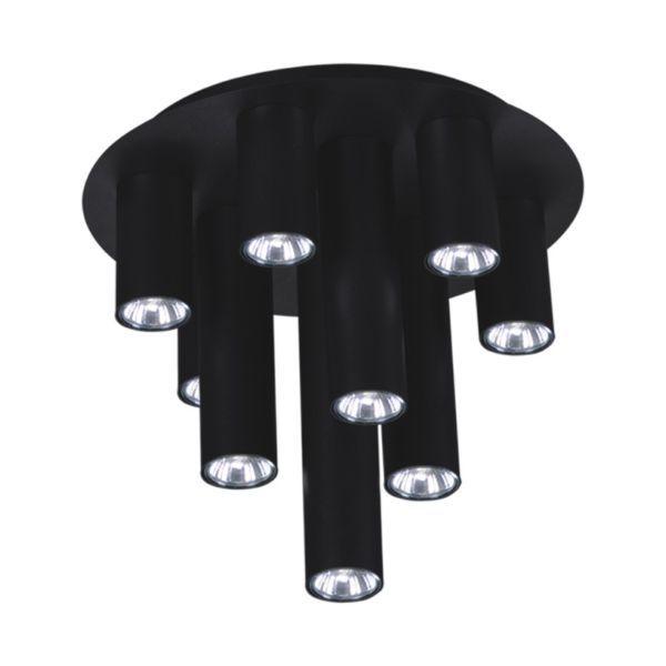 nowoczesna, czarna lampa sufitowa szara