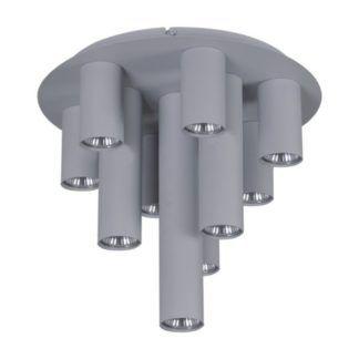 Szara lampa sufitowa Mile - 10 kloszy