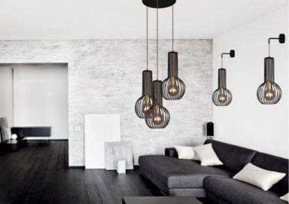 lampy z ażurowymi kloszami salon
