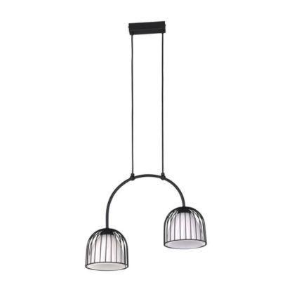 podwójna lampa wisząca czarna
