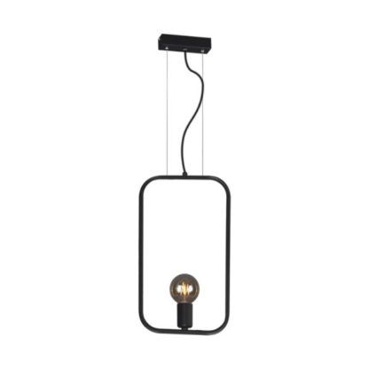 czarna lampa wisząca na jedną żarówkę