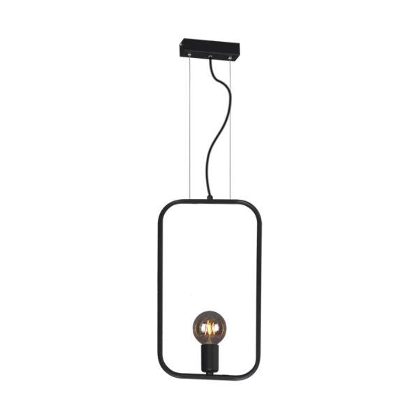 wysoka lampa wisząca czarna