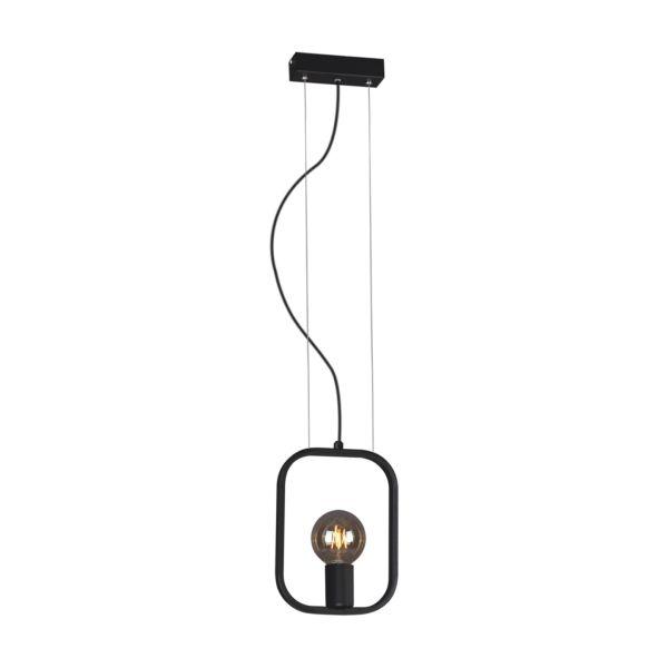 czarna lampa wisząca druciana