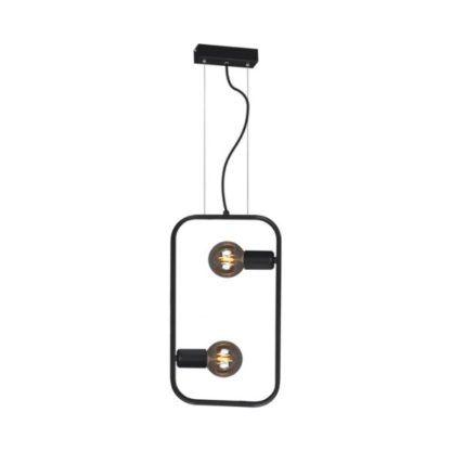 czarna lampa wisząca odsłonięte żarówki